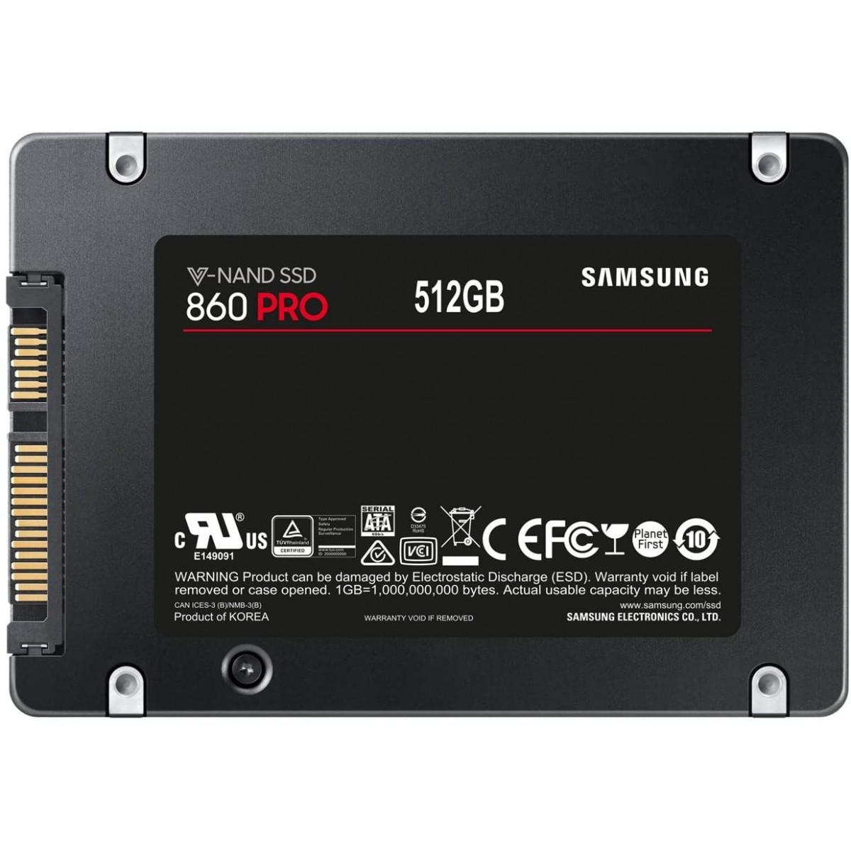 SSD Ssamsung 860 PRO, 512GB, Sata III, MZ-76P512E