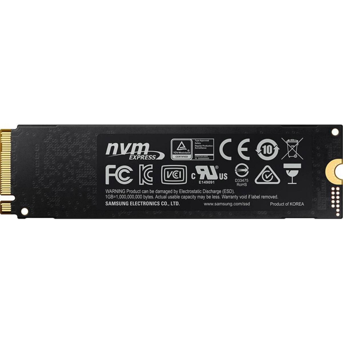 SSD Samsung 970 EVO Plus, 500GB, M.2 2280, NVMe, Leitura 3500MBs e Gravação 3200MBs, MZ-V7S500B-AM