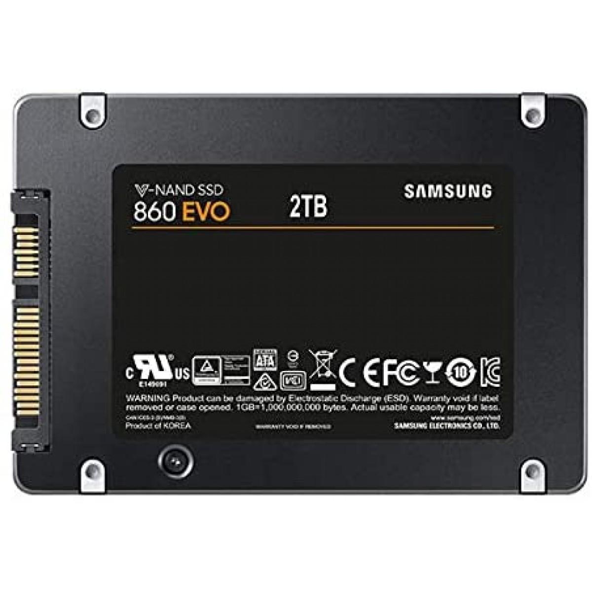 SSD Samsung EVO 860, 2TB, SATA III MZ-76E2T0E