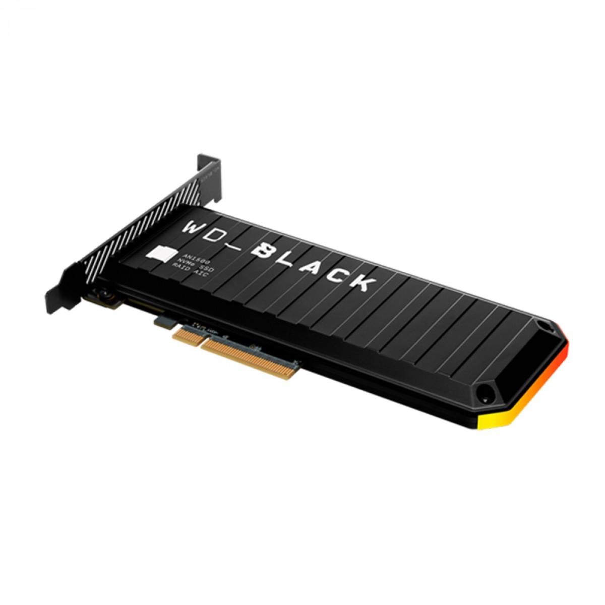 SSD WD AN1500 Black, 2TB, PCI-Express 3.0 x8 NVME, Leitura 6500MBs e Gravação 4100MBs, WDS200T1X0L-00AUJ0