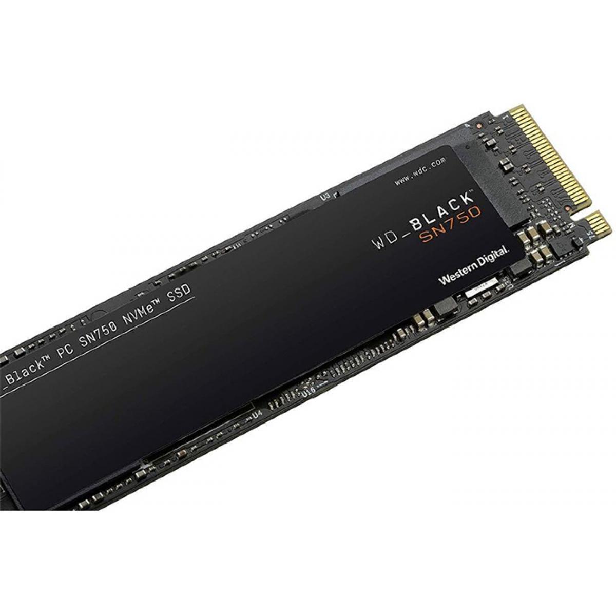 SSD WD Black SN750 500GB, M.2 2280, Leitura: 3430MBs e Gravação: 2600MBs, WDS500G3X0C