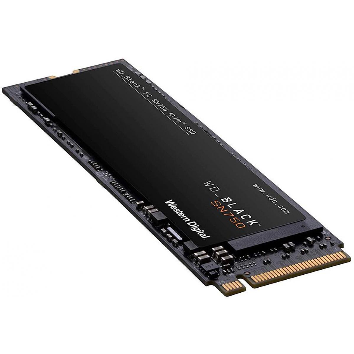 SSD WD Black SN750 250GB, M.2 2280, Leitura 3100MBs e Gravação 1600MBs, WDS250G3X0C