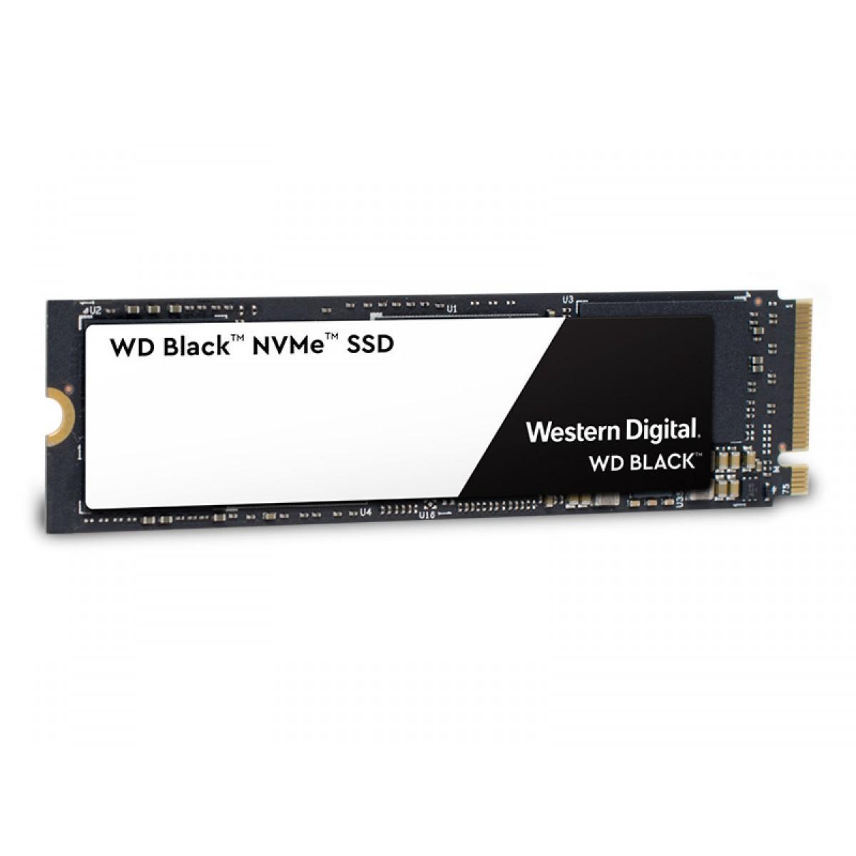 SSD WD Black SN750, 1TB, M.2 2280, NVMe, Leitura 3400MBs e Gravação 28000MBs, WDS100T2X0C
