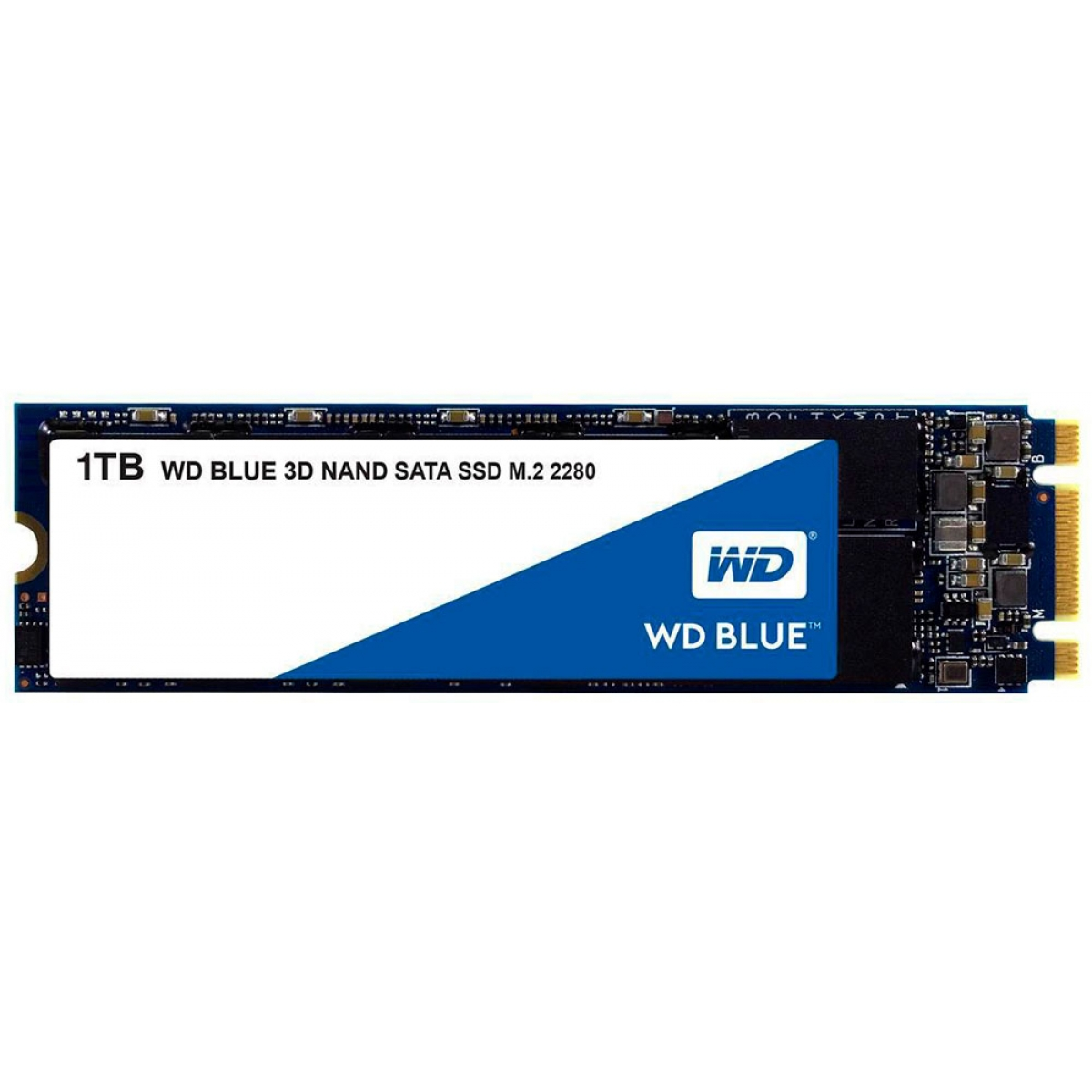 SSD WD Blue, 1TB, M.2 2280, Sata, Leitura 560MBs e Gravação 530MBs, WDS100T2B0B