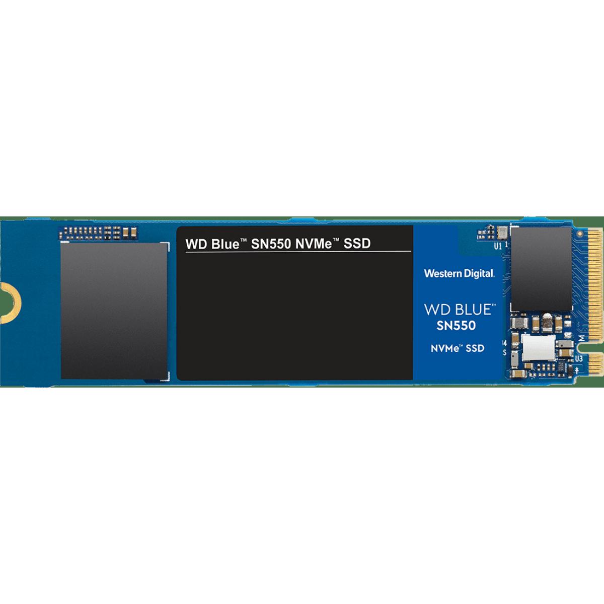 SSD WD Blue SN550 250GB, M.2 2280, NVME, Leitura 2400MBs e Gravação 950MBs, WDS250G2B0C