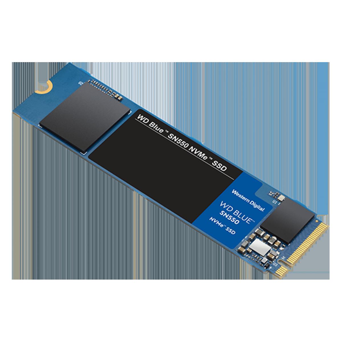 SSD WD Blue SN550 500GB, M.2 2280, NVME, Leitura 2400MBs e Gravação 1750MBs, WDS500G2B0C