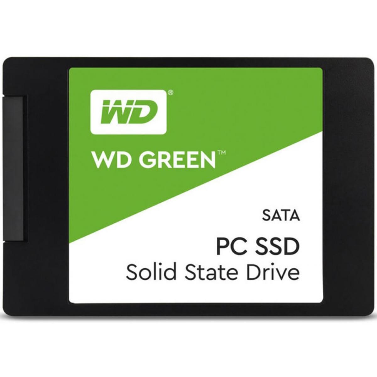 SSD WD Green 480GB, Sata III, Leitura 545MBs e Gravação 430MBs, WDS480G2G0A