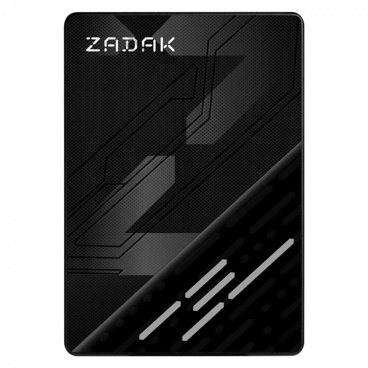 SSD Zadak TWSS3, 128GB, Sata III, Leitura 560MB/s e Gravação 540MB/s, ZS128GTWSS3-1