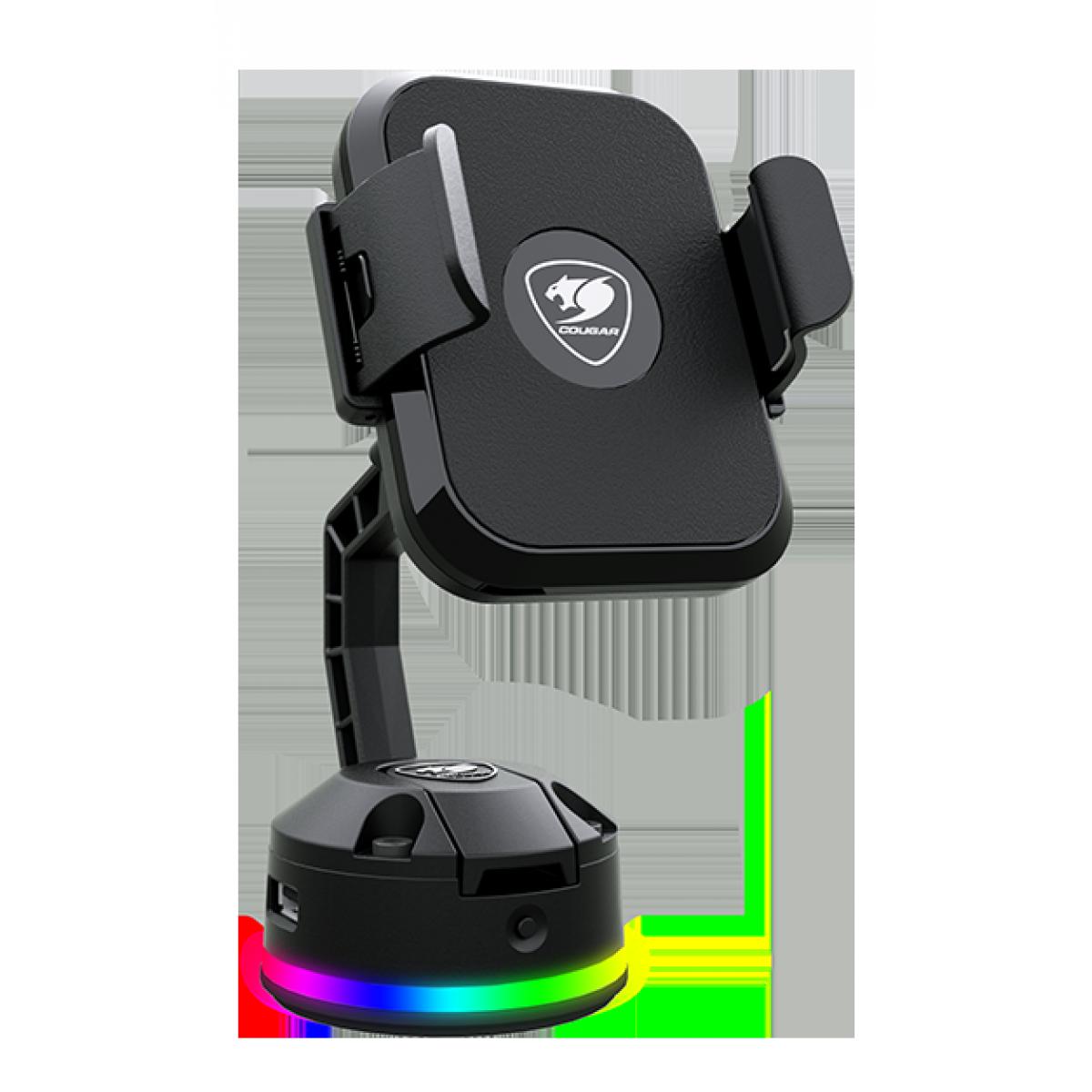Suporte de Carregamento Wireless para Celular Cougar Bunker M RGB, Black, 3MBMRXXB.0001
