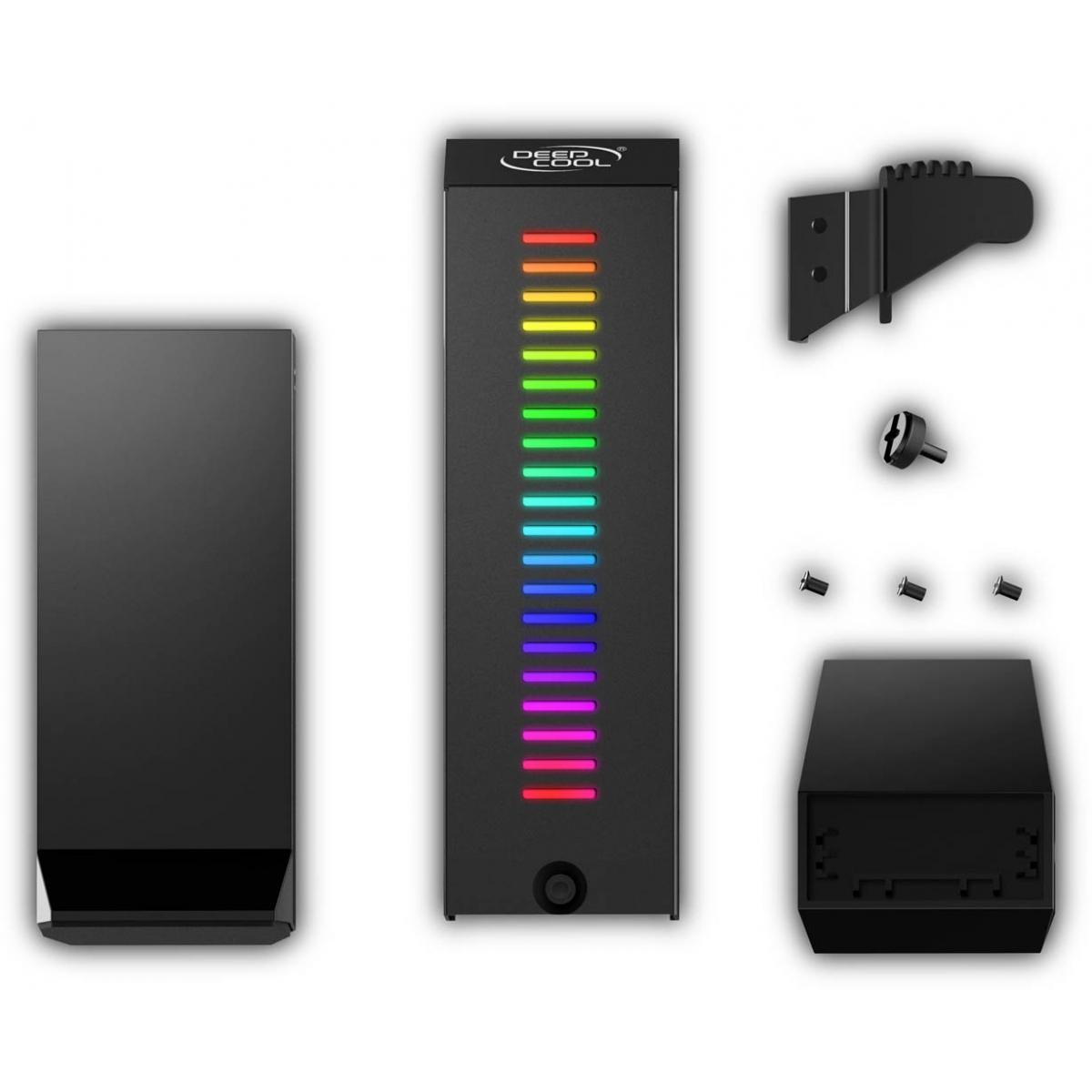 Suporte de Placa de Vídeo Deepcool GH-01 A-RGB, Black, DP-GH01-ARGB