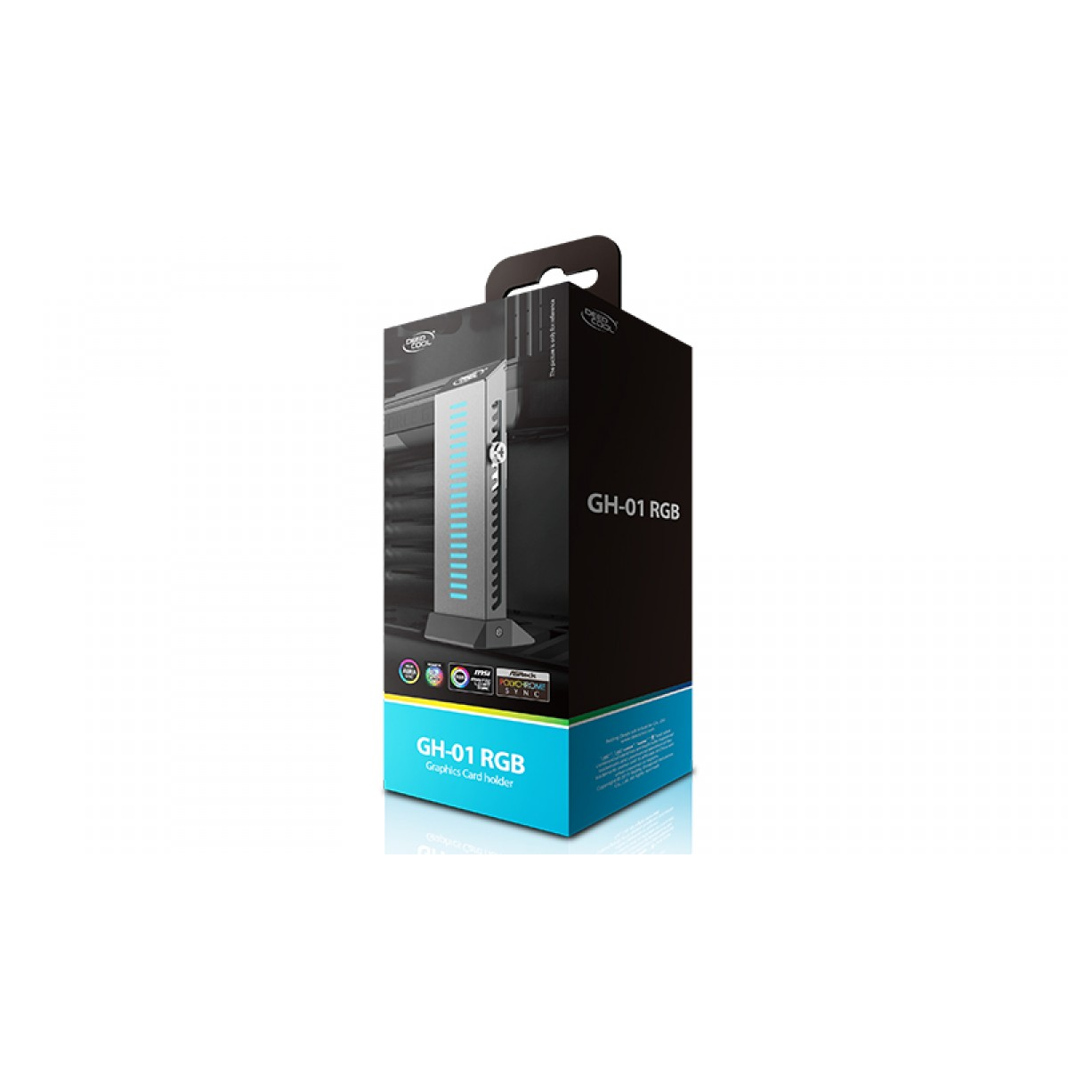 Suporte de Placa de Vídeo Deepcool GH-01 RGB, Black, GH-01 RGB