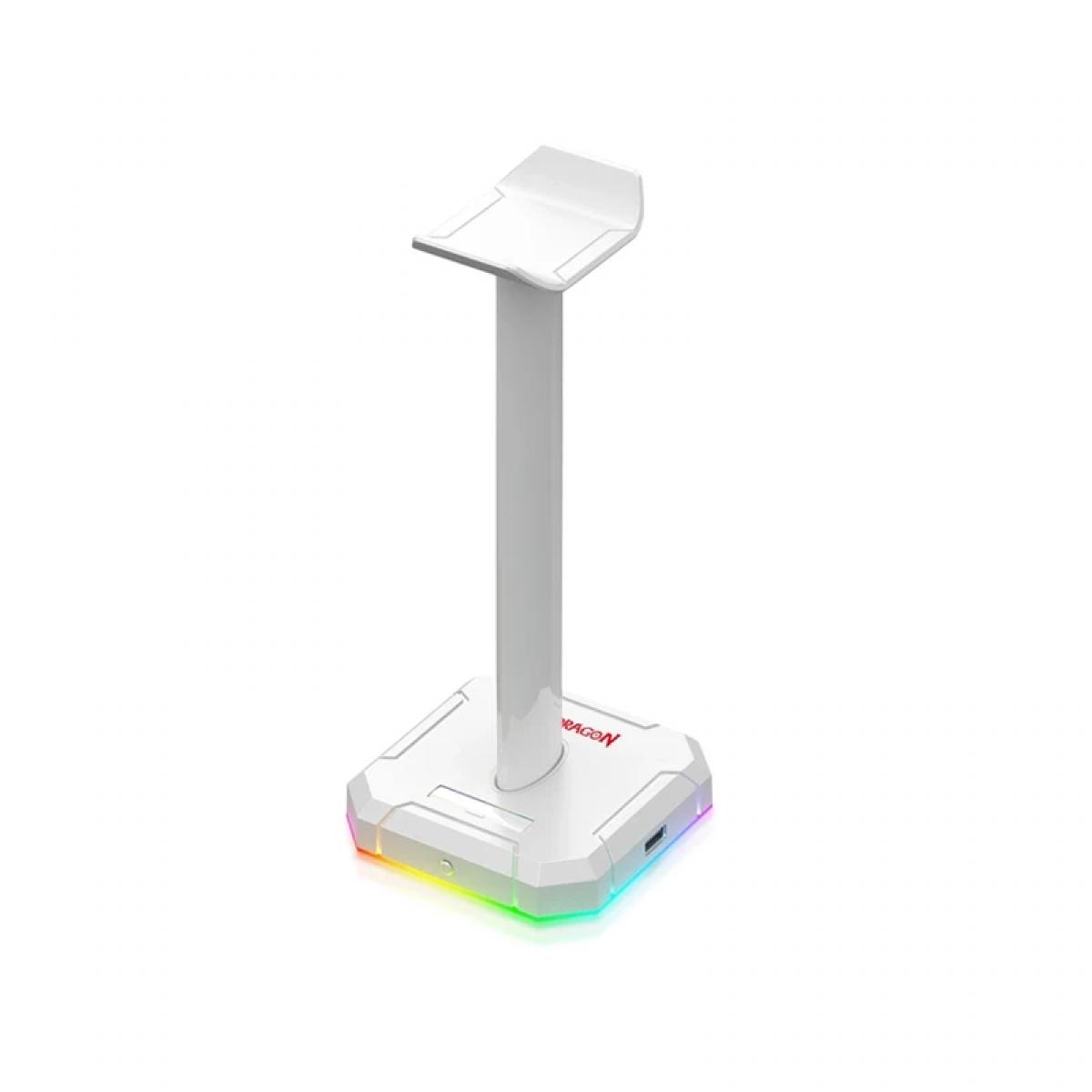 Suporte para Headset Redragon Scepter Pro RGB, White, HA300-W