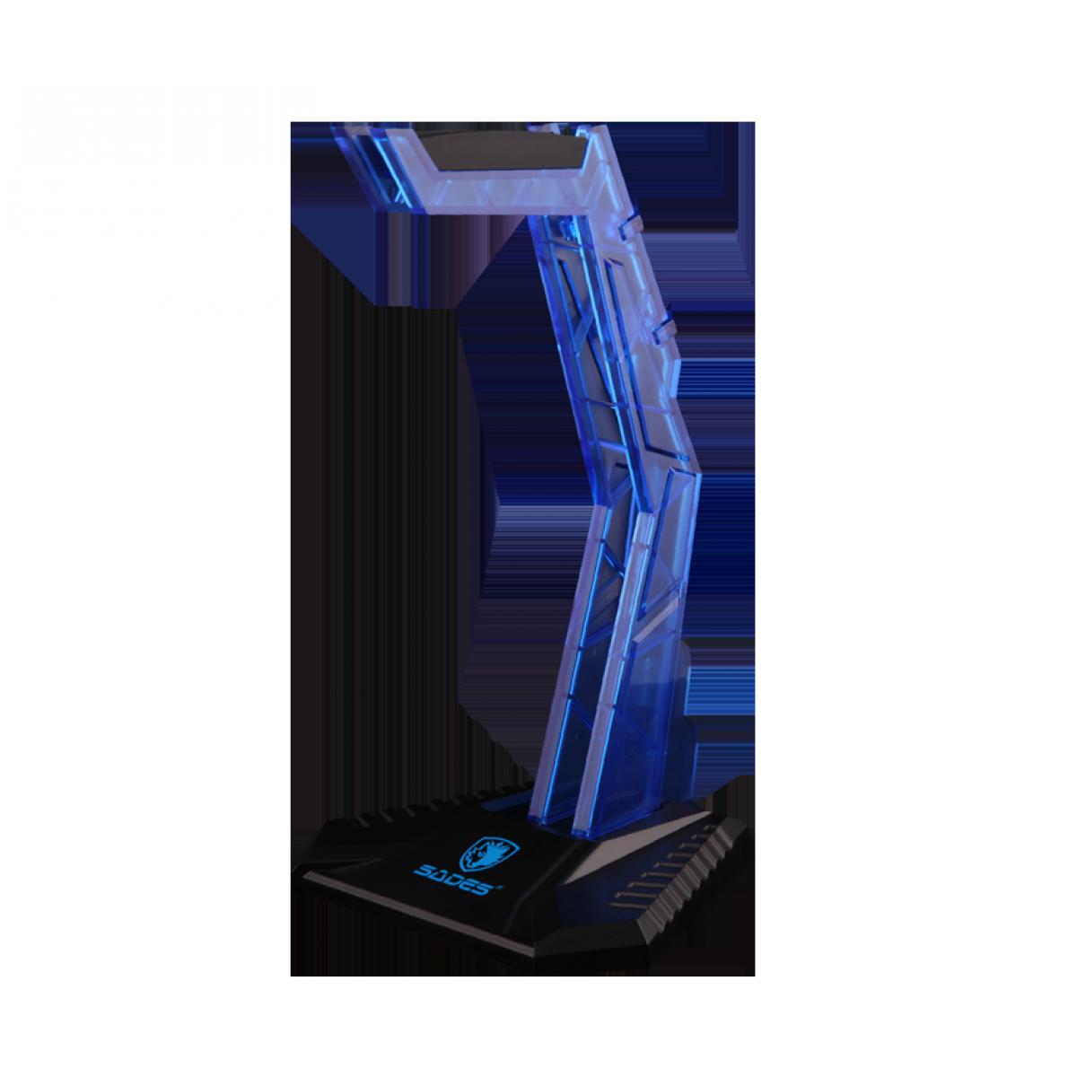 Suporte Para Headset Sades Acrílico Azul Wolfbone