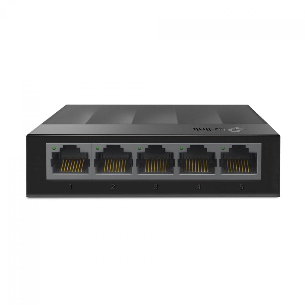 Switch TP-Link LS1005G 5 Portas 10/100/1000Mbps Gigabit Ethernet, Black
