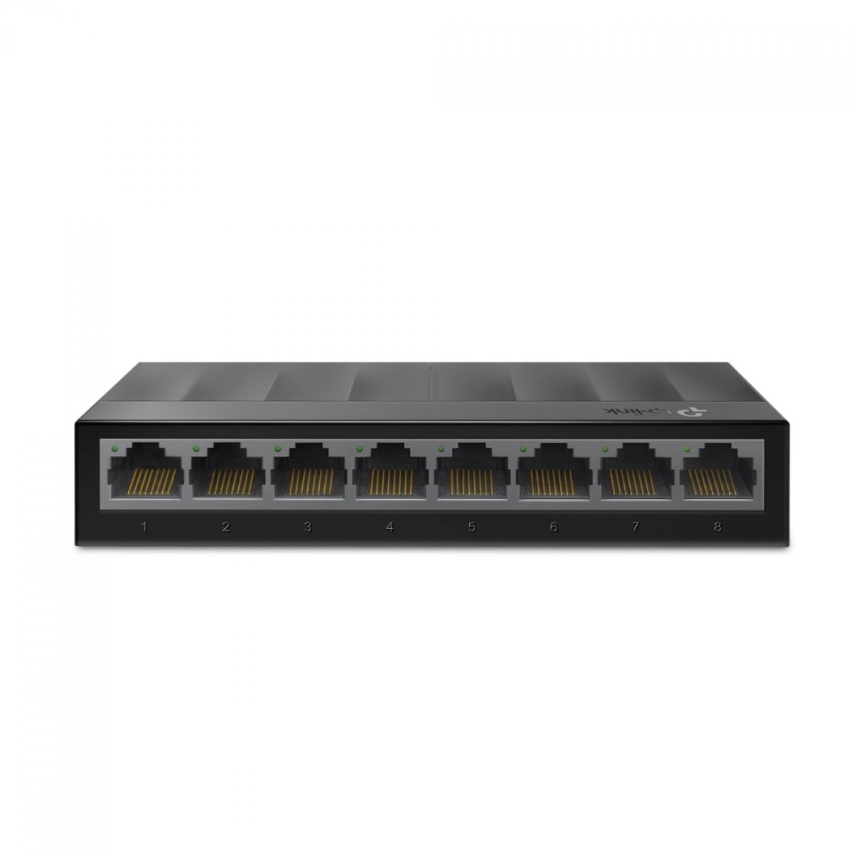 Switch TP-Link LS1008G 8 Portas 10/100/1000Mbps Fast Ethernet, Black