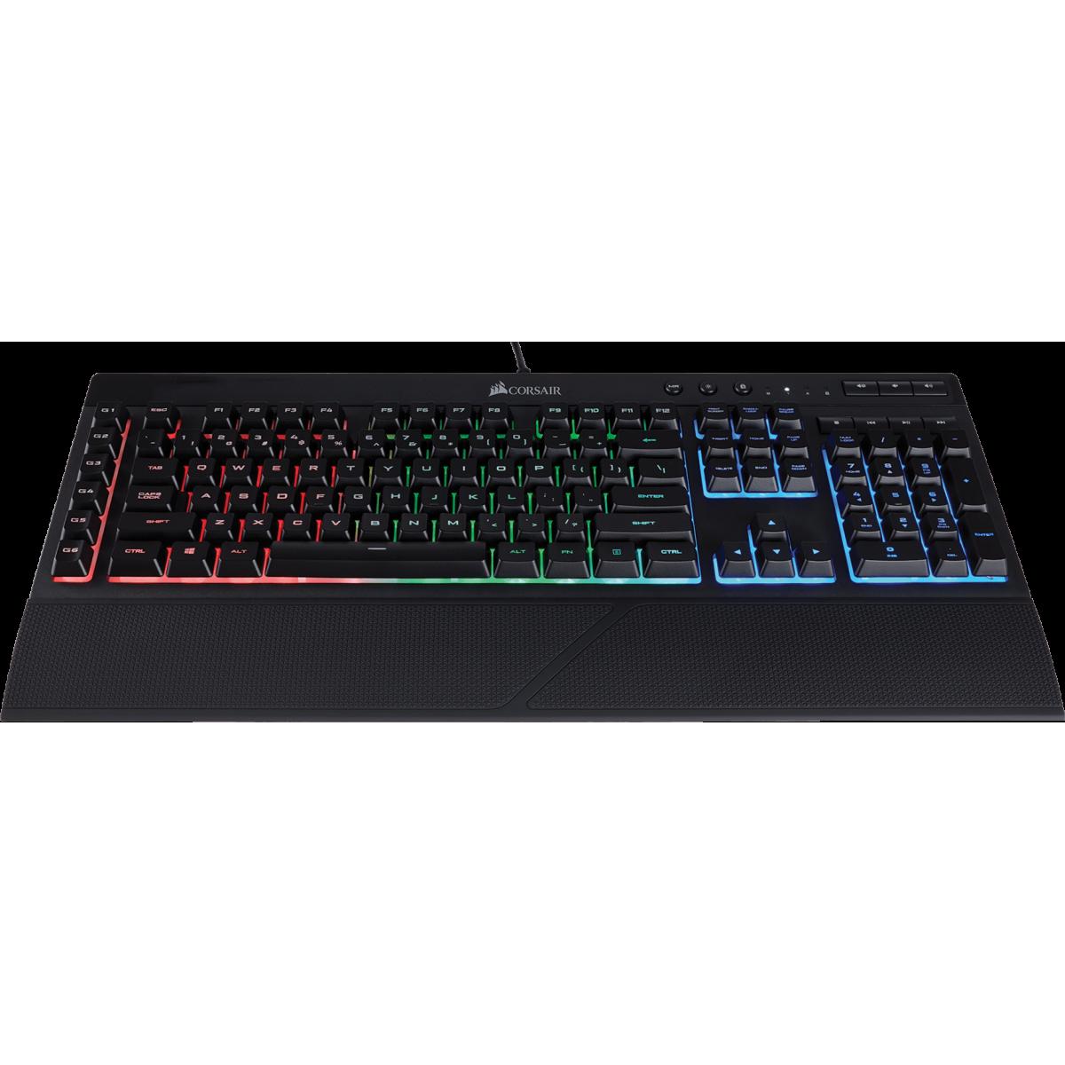 Teclado Corsair Gamer K55 RGB LED, CH-9206015-BR