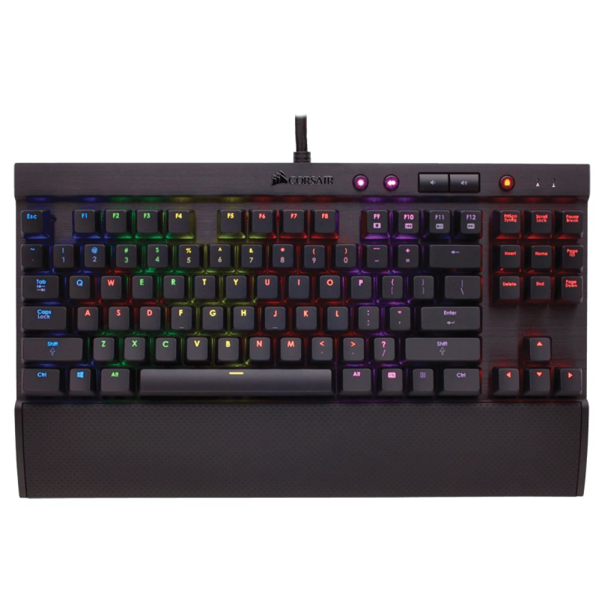 Teclado Mecânico Gamer Corsair K65 RGB Switch Cherry MX Red CH-9000222-BR ABNT2