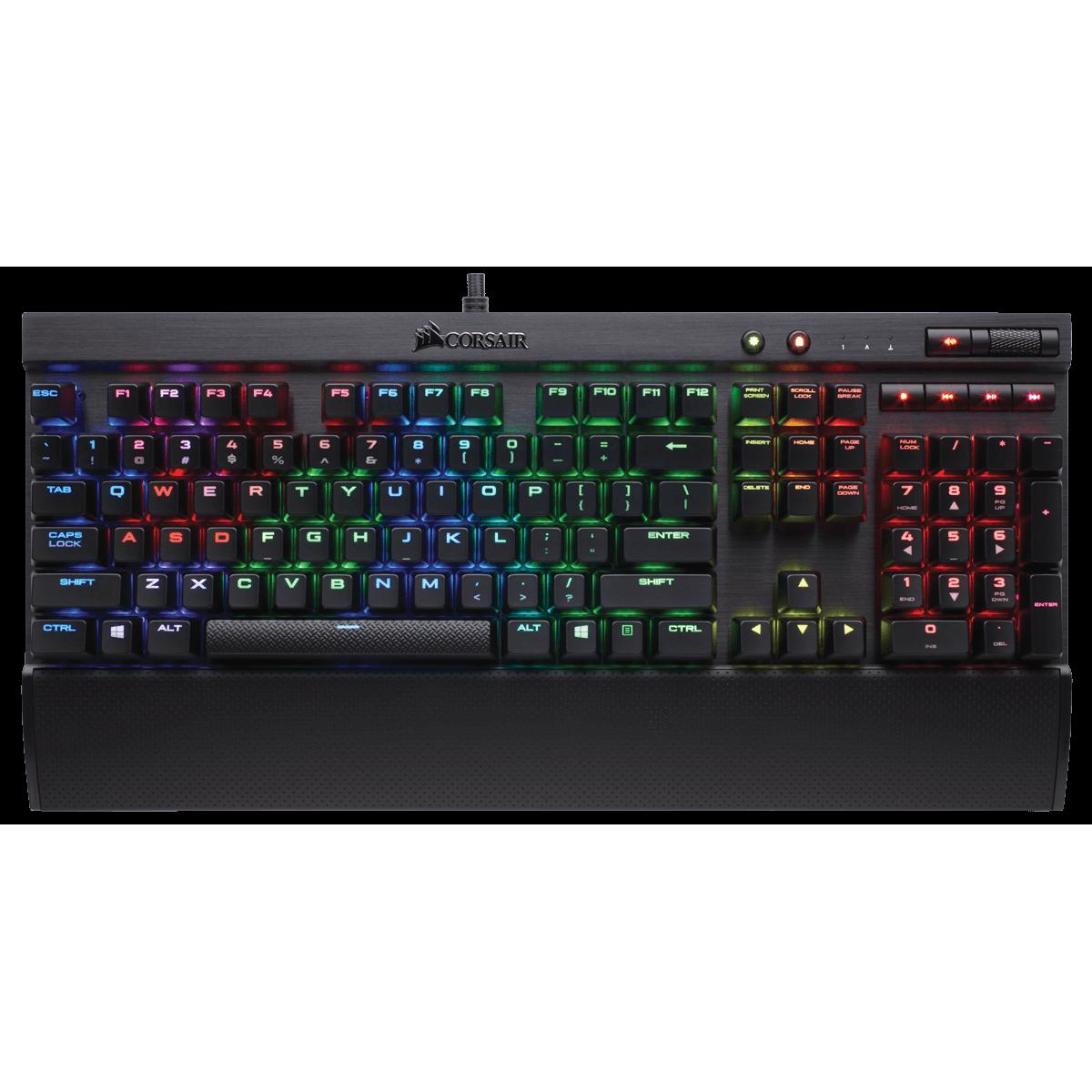 Teclado Mecânico Gamer Corsair K70 LUX Switch Cherry MX BROWN RGB CH-9101012-BR ABNT2