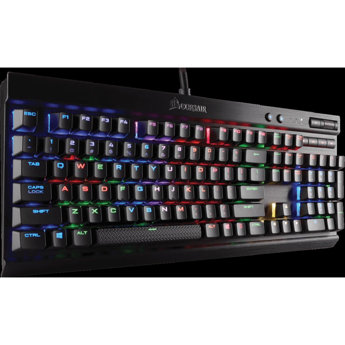 Teclado Mecânico  Gamer Corsair K70 Lux Switch Cherry Mx Rgb Red Ch-9101010-br Abnt2