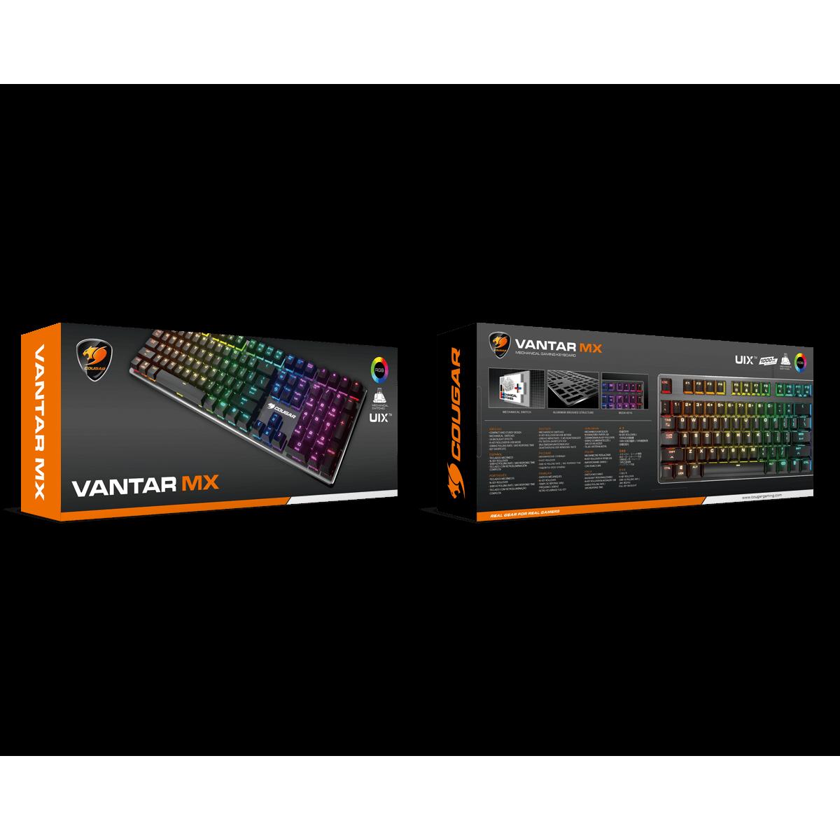 Teclado Gamer Cougar Vantar MX, Switch Red, RGB, ABNT2, Black, 37VAMM1SB-0004