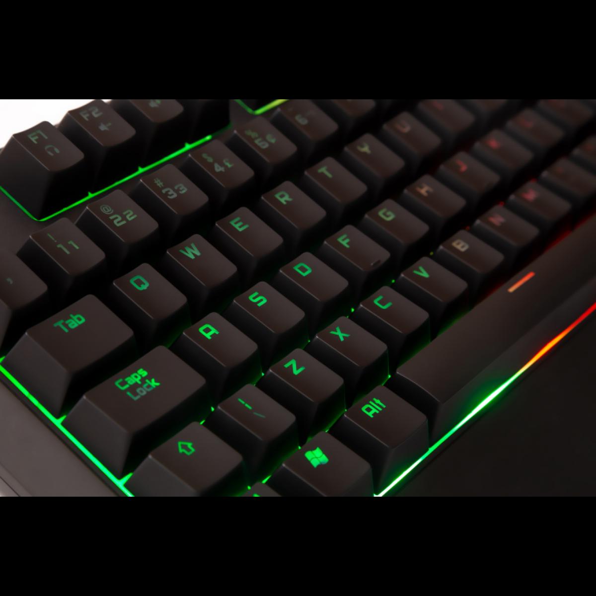 Teclado Mecânico Gamer DAZZ Ultra Fire Revolution RGB, ABNT2