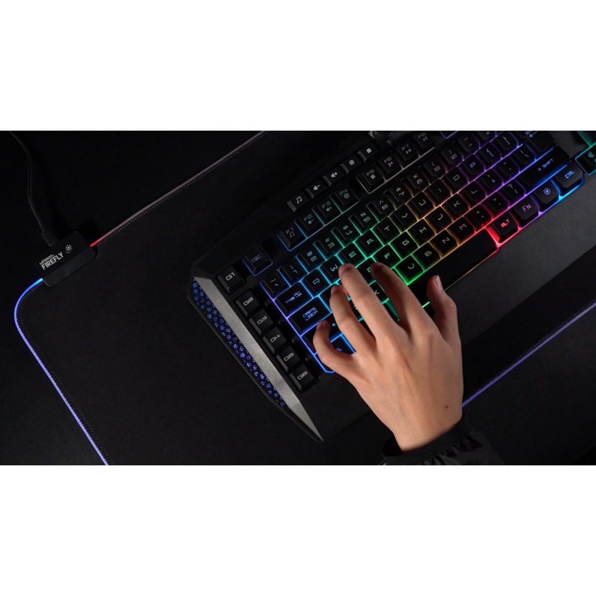 Teclado Gamer Fantech Booster, RGB, Black, K513