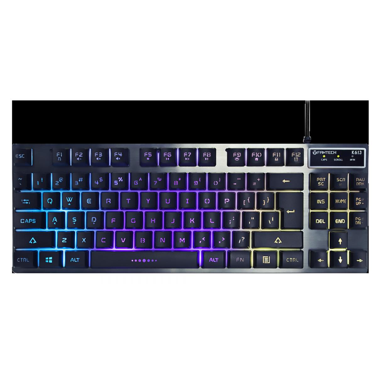 Teclado Gamer Fantech Fighter TKL II, RGB, Black, K613