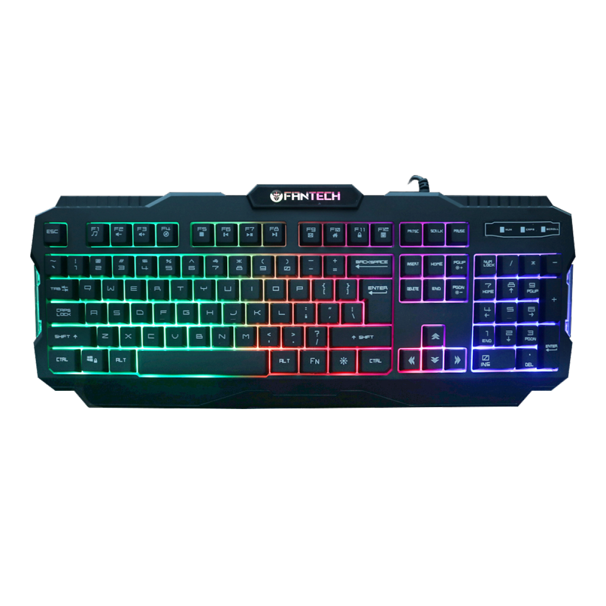 Teclado Gamer Fantech Hunter Pro, Rainbow, Black, K511