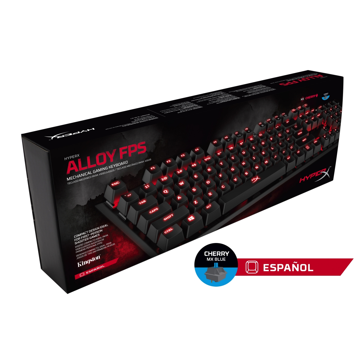 Teclado Mecânico Gamer HyperX Alloy FPS, Switch Cherry MX Blue, HX-KB1BL1-LA/A4