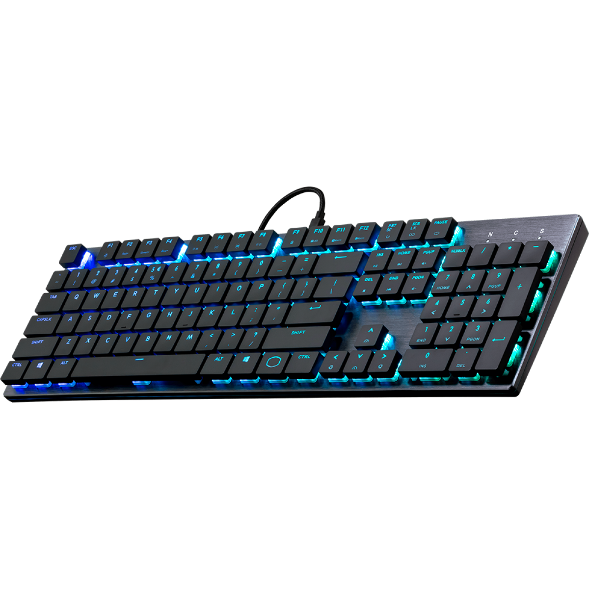 Teclado Gamer Mecânico Cooler Master SK650 RGB, Switch Low Profile Red, SK-650-GKLR1-PT