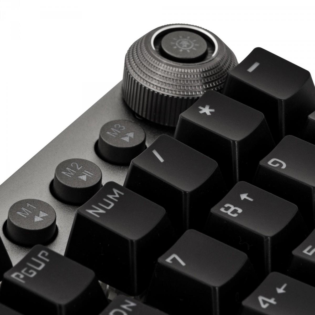 Teclado Gamer Mecânico Fortrek K7 GPRO, RGB, Switch Blue, ABNT2, Preto, 67703