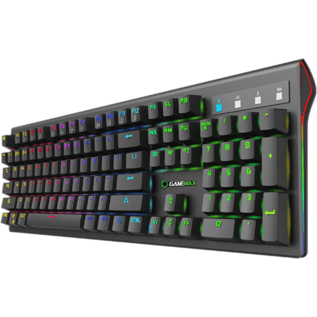 Teclado Gamer Mecânico Gamemax KG801, Switch Blue, RGB