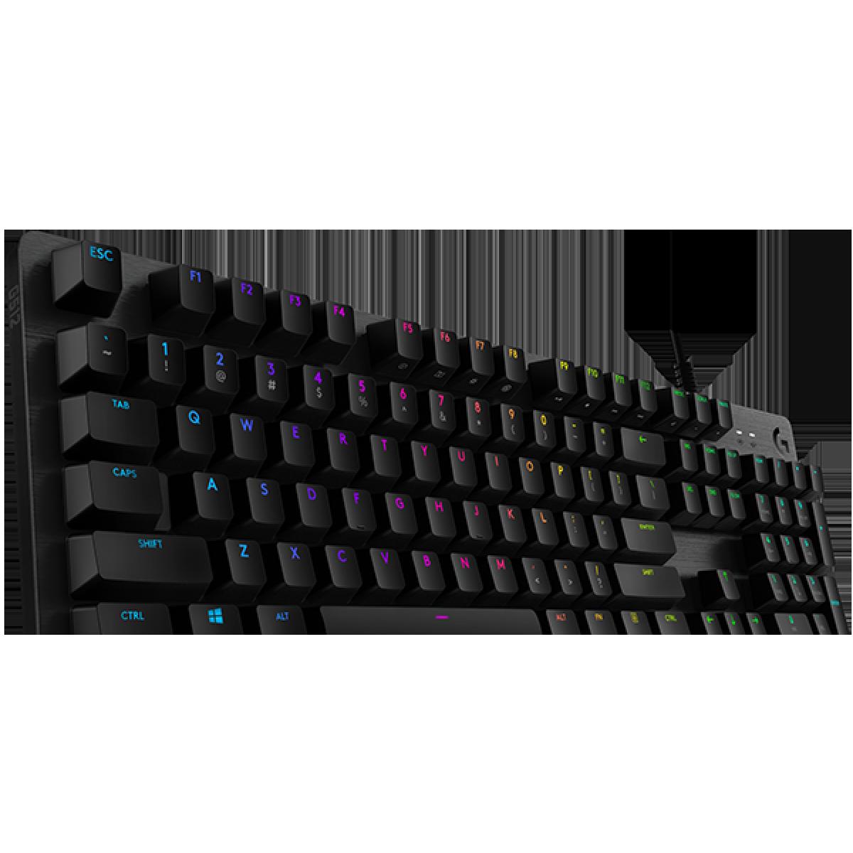 Teclado Gamer Mecânico Logitech G512 SE, Switch Mecânicos Clicky, RGB, 920-009300-W