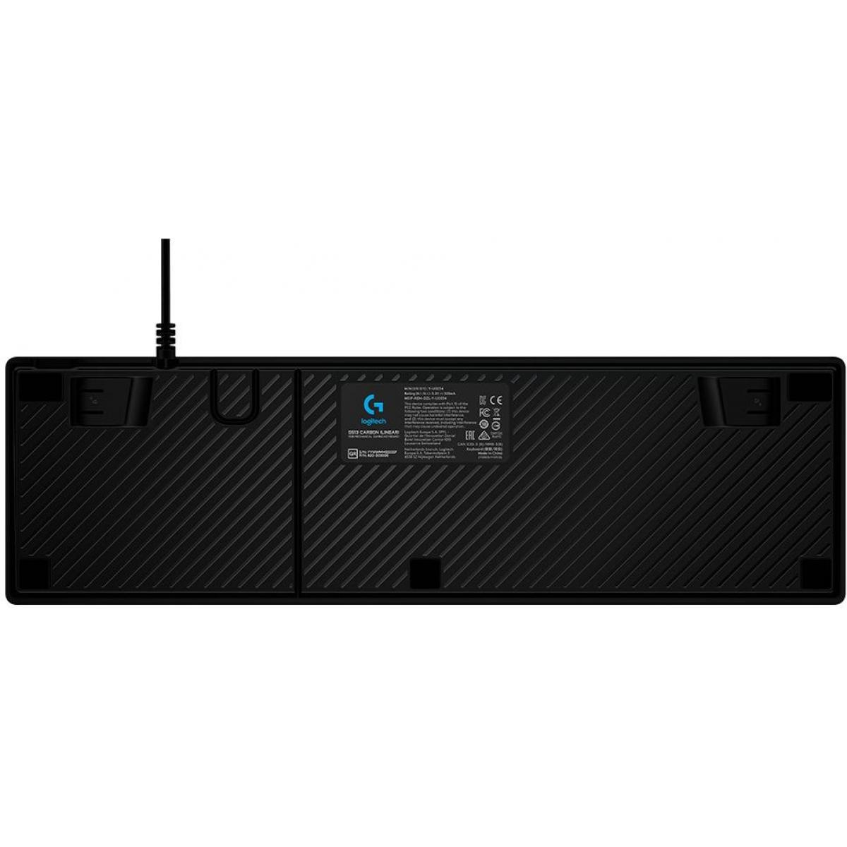 Teclado Mecânico Gamer Logitech G513 Carbon Lightsync RGB, Black