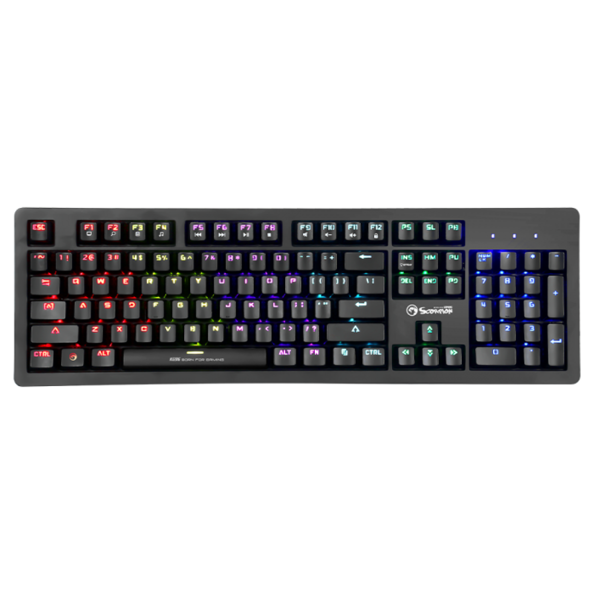 Teclado Gamer Mecânico Marvo Scorpion KG-916, RGB, Switch Blue, Black, KG-916