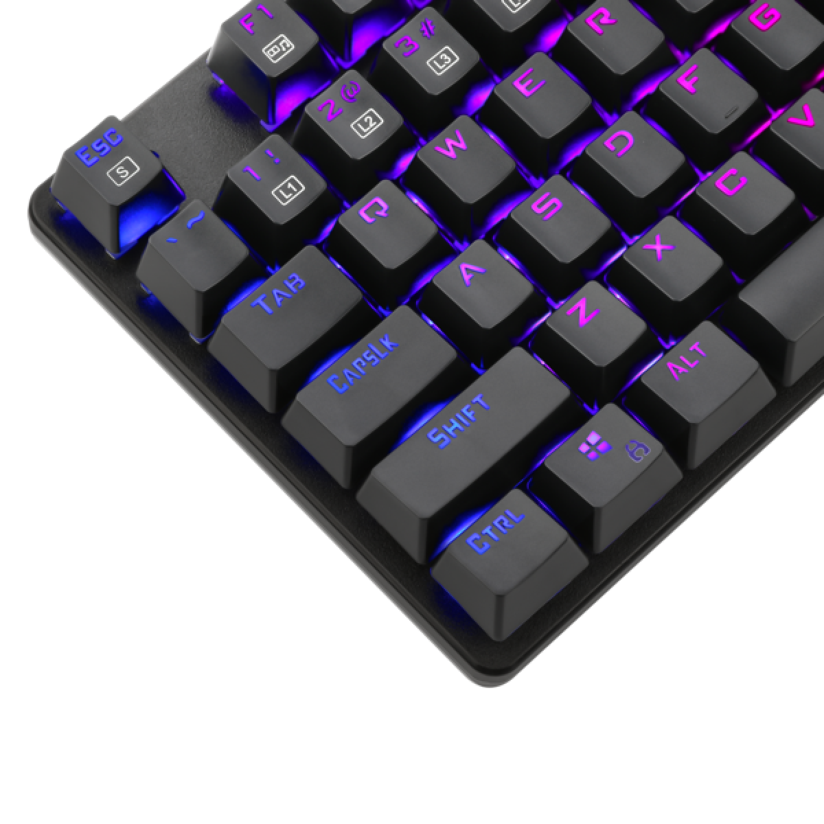 Teclado Gamer Mecânico T-Dagger Bora, Switch Blue, RGB, Black, T-TGK315