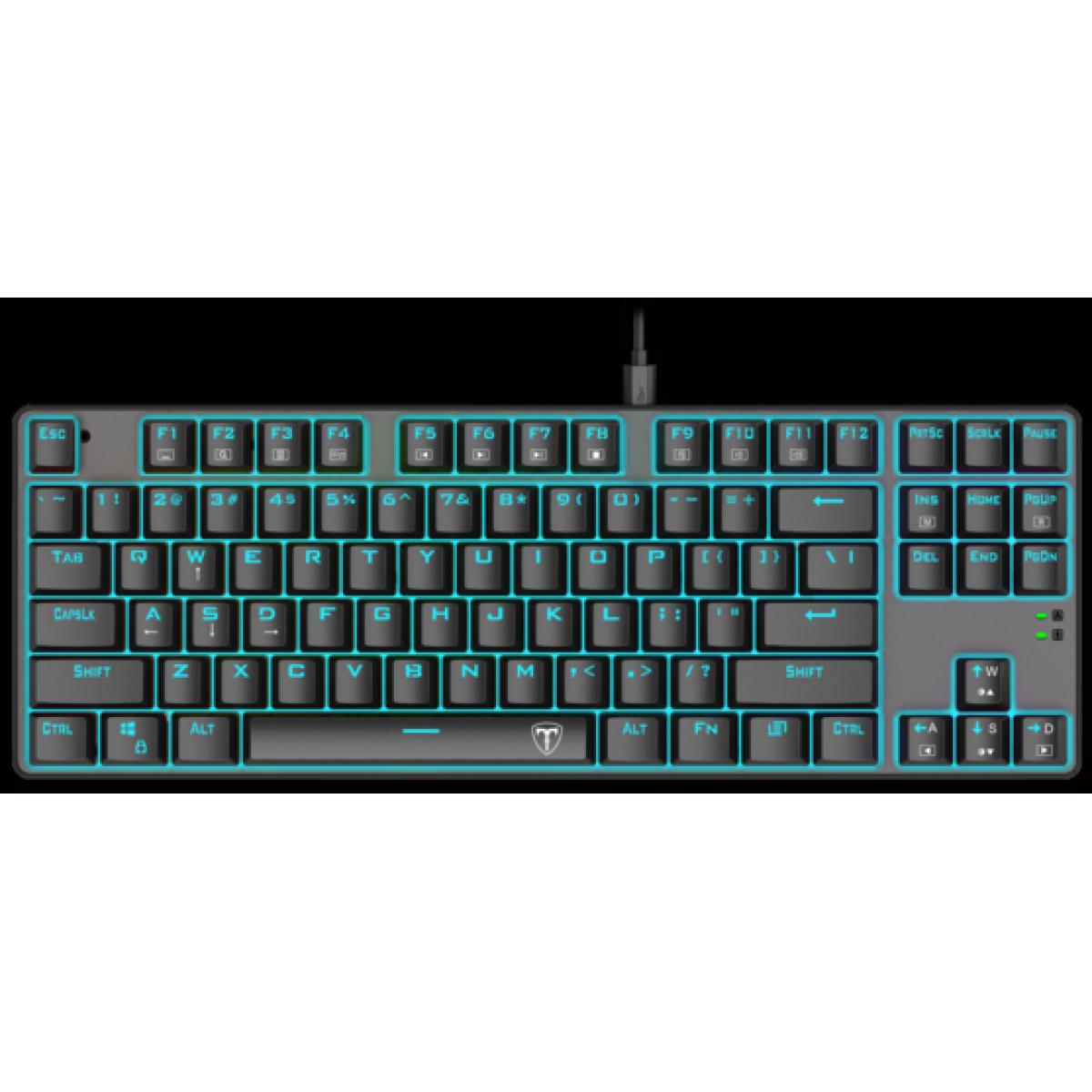 Teclado Gamer Mecânico T-Dagger Bora, Switch Outemu Blue, ABNT2, T-TGK313-BL - Open Box