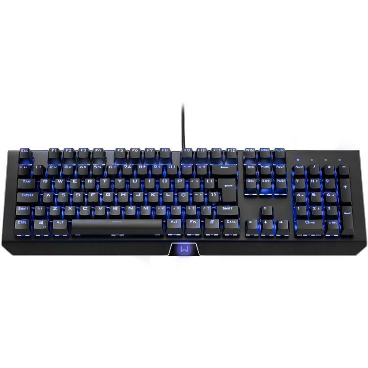 Teclado Gamer Mecânico Warrior Kane, Led Blue, ABNT2, Switch Brown, TC236
