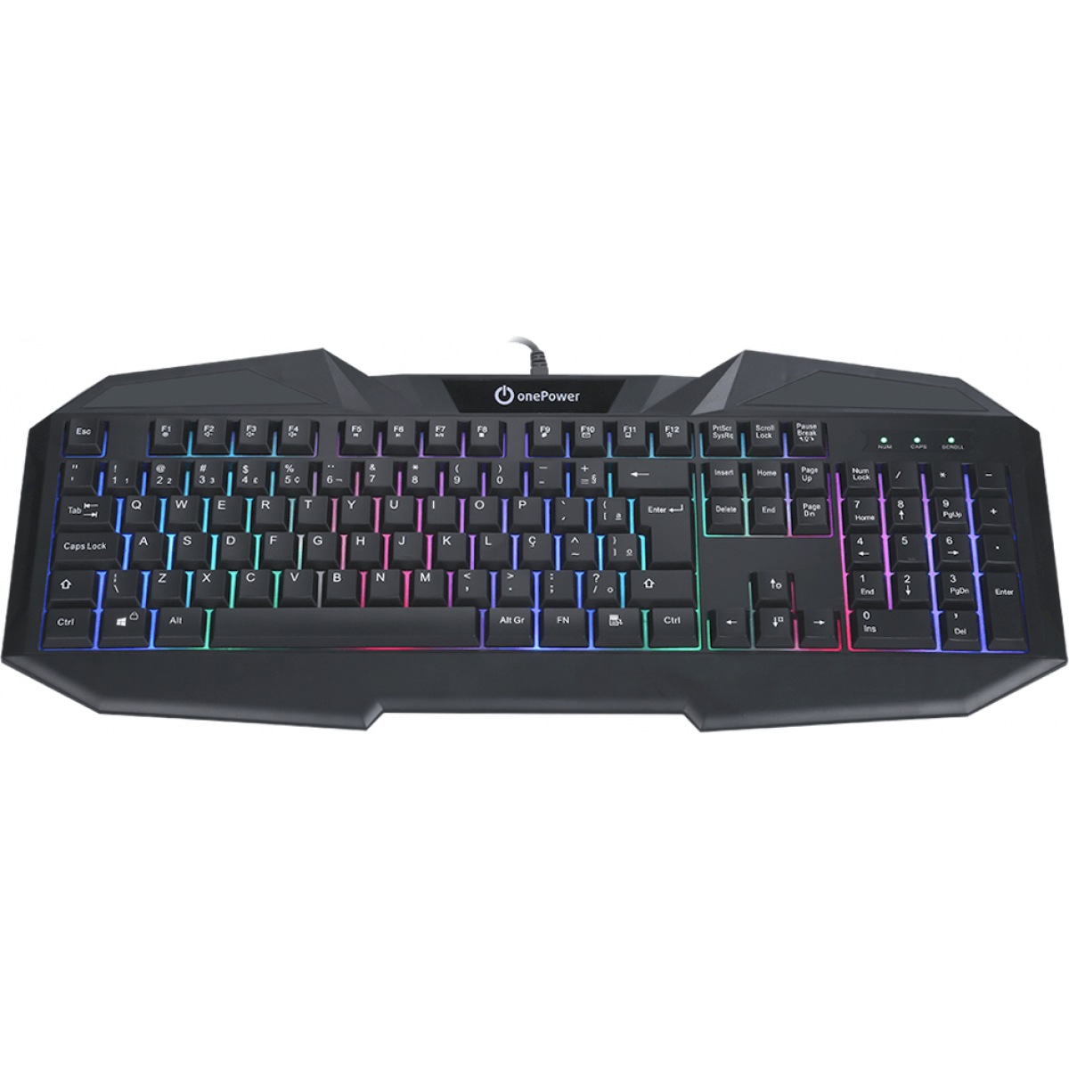 Teclado Gamer OnePower KD-623 Rainbow, ABNT2, Black