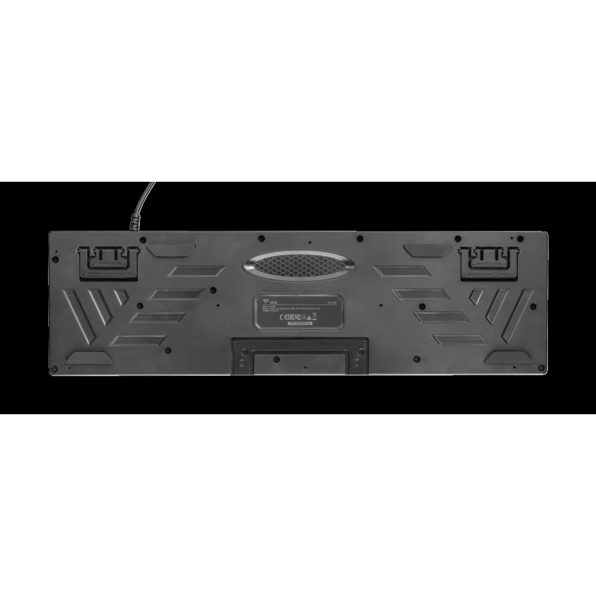 Teclado Gamer Trust, GXT 835 Azor, Backlight, ANSI, Black, T23651