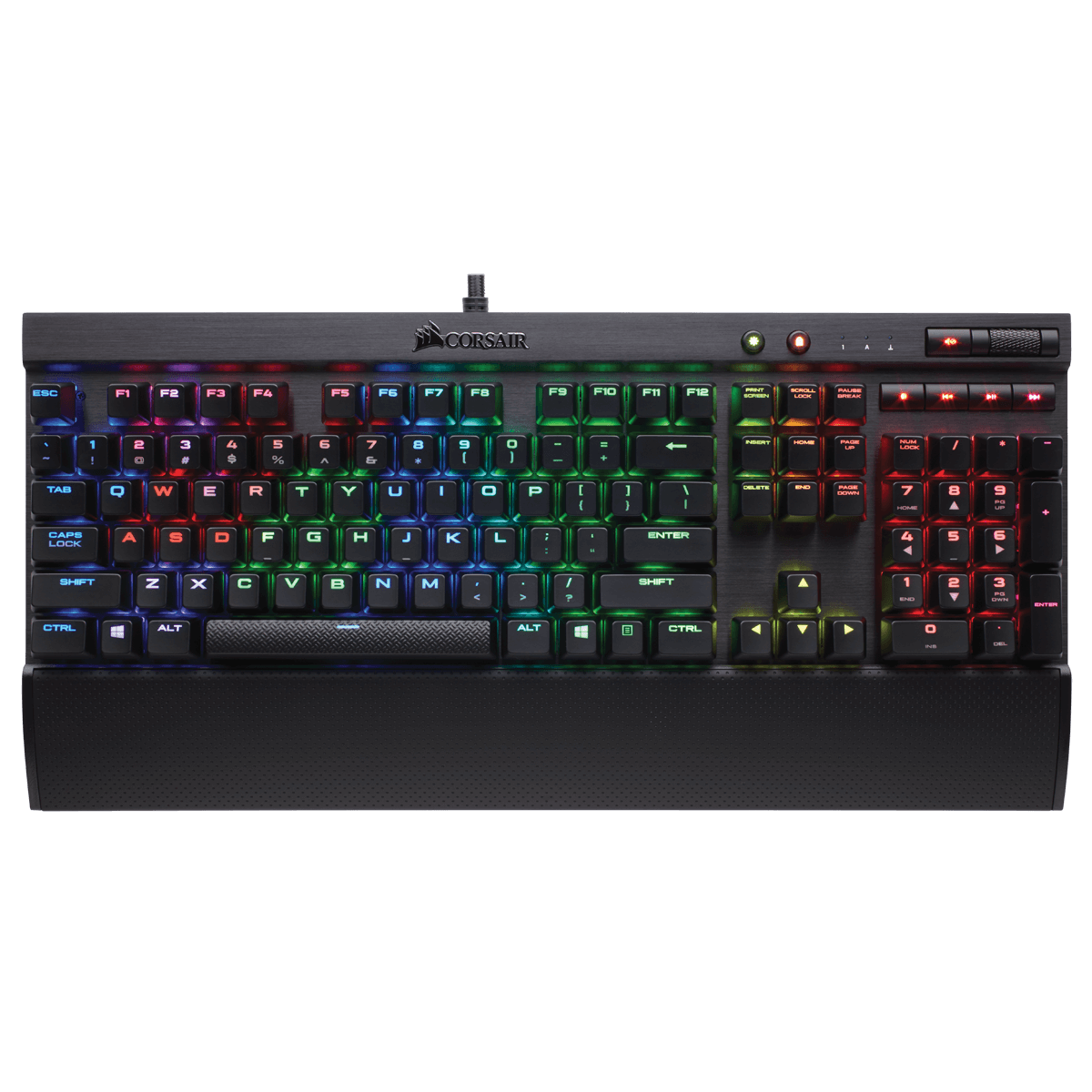 Teclado Mecânico Gamer Corsair K70 RGB RAPIDFIRE Switch Cherry MX Speed CH-9101014-BR ABNT2