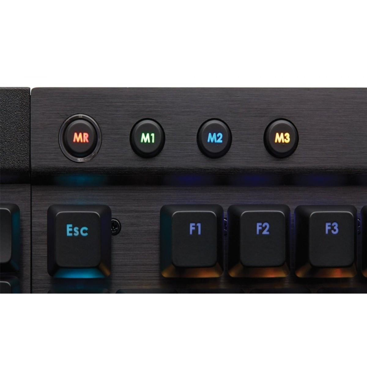 Teclado Mecânico Gamer Corsair K95 RGB Switch Cherry MX Red CH-9000220-BR ABNT2