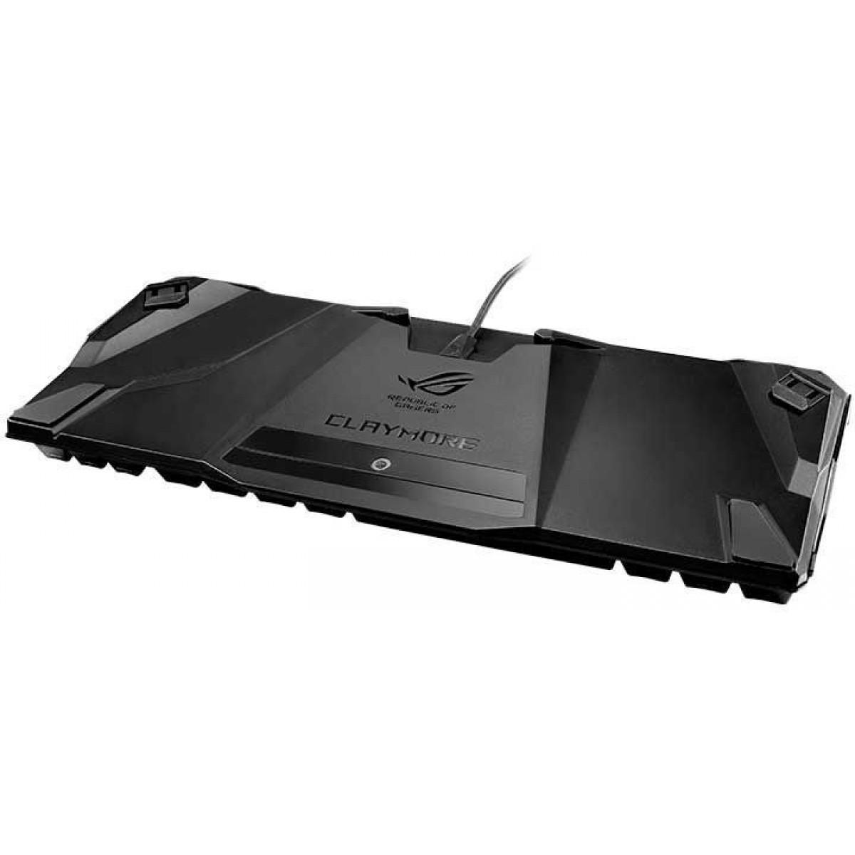 Teclado Mecânico Gamer Asus Rog Claymore Core RGB, Switch Cherry Mx Red, Black, 90MP00I0-B0UA00
