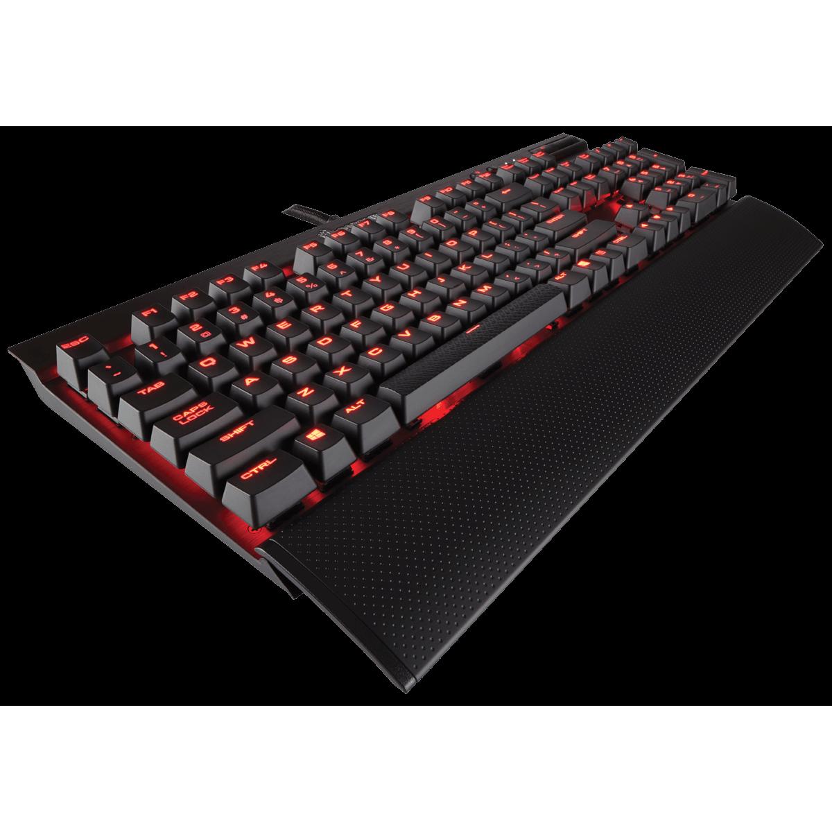 Teclado Mecânico Gamer Corsair K70 LUX, Switch Cherry MX Red, ABNT2, CH-9101020-BR