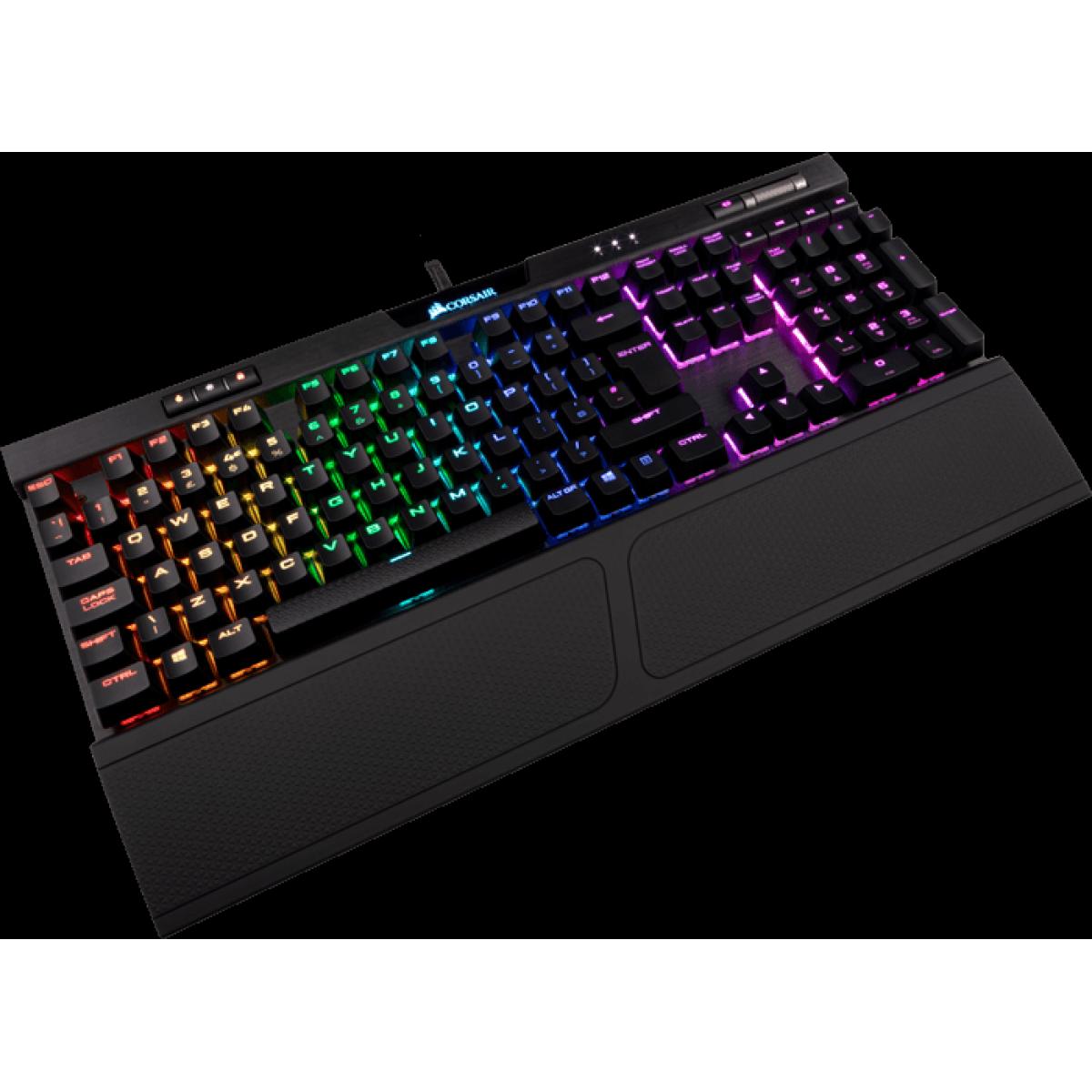 Teclado Mecânico Gamer Corsair K70 RGB MK.2, Switch Cherry MX Speed, ABNT2, CH-9109014-BR