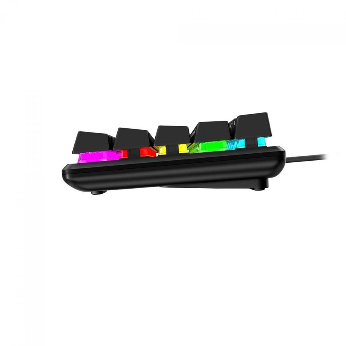 Teclado Mecânico Gamer HyperX Alloy Origins 60%, RGB, Switch HyperX Red, US, HKBO1S-RB-US/G
