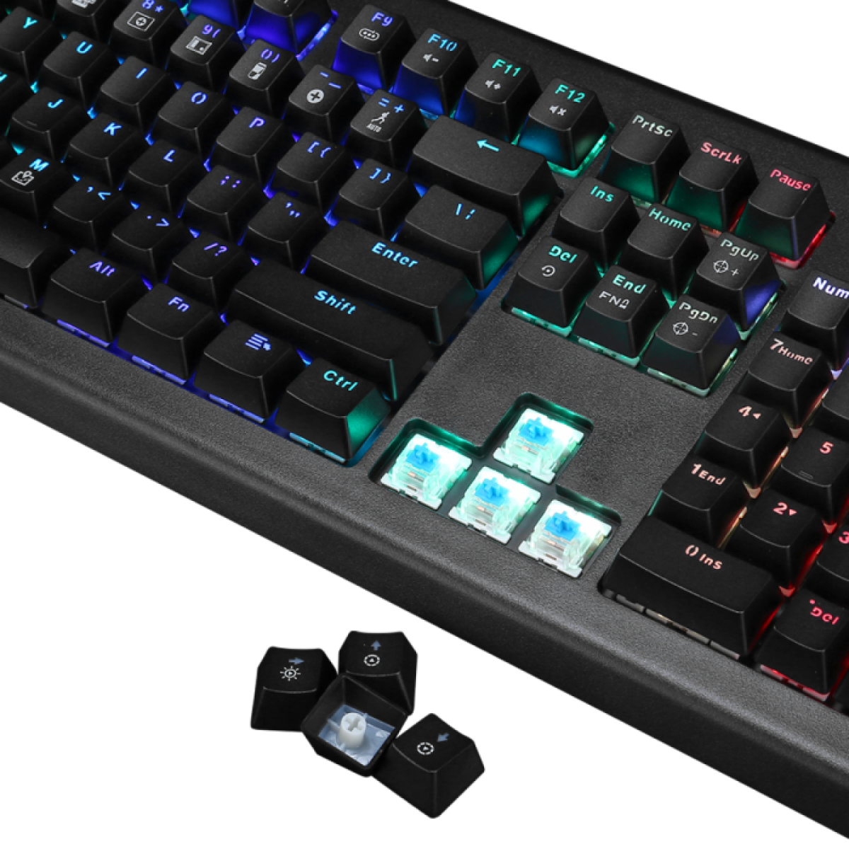 Teclado Mecânico Gamer Marvo Scorpion KG959G, USB 2.0, Switch Azul, LED RGB