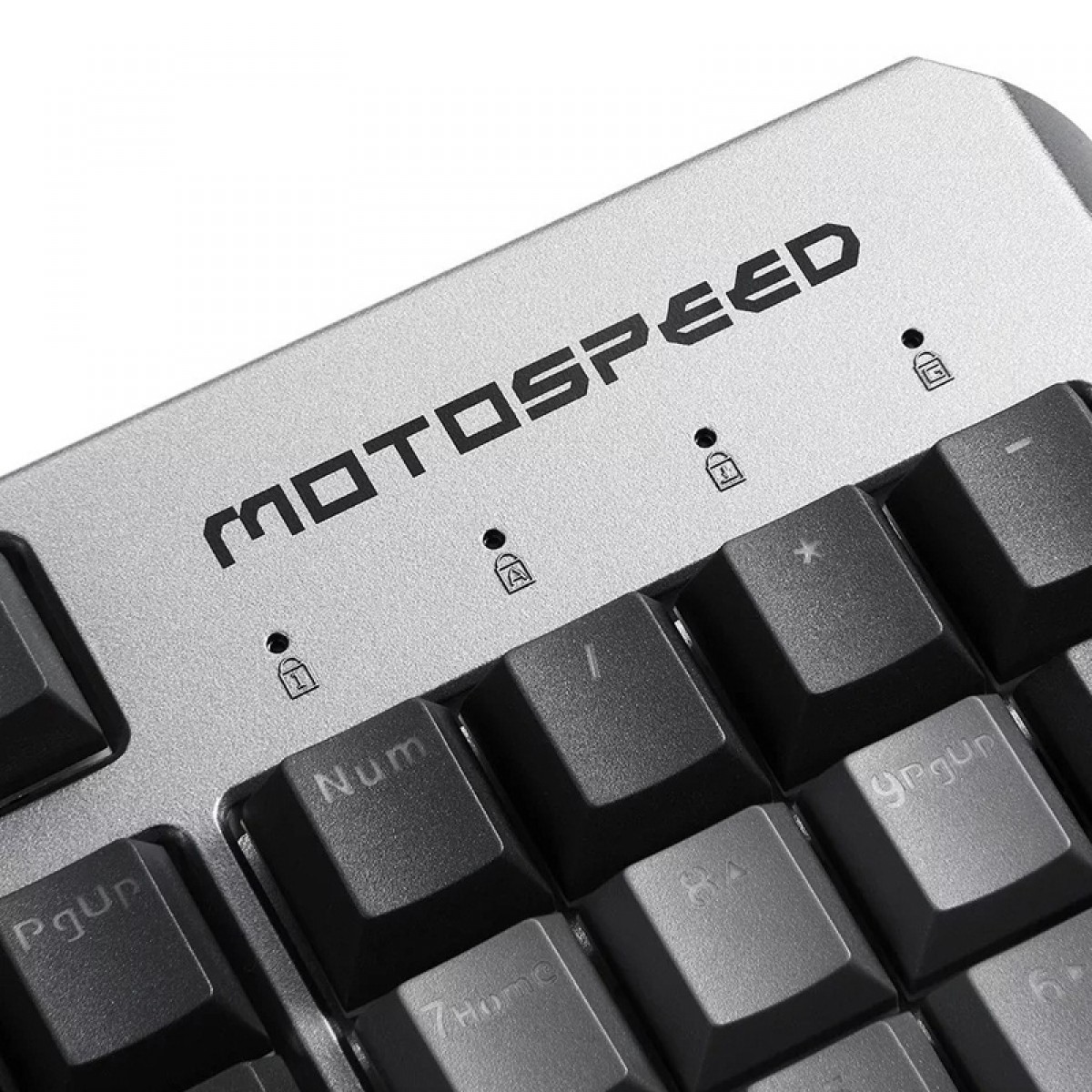 Teclado Mecânico Gamer MotoSpeed CK80 Black, RGB, Switch Gold, FMSTC0070PTO