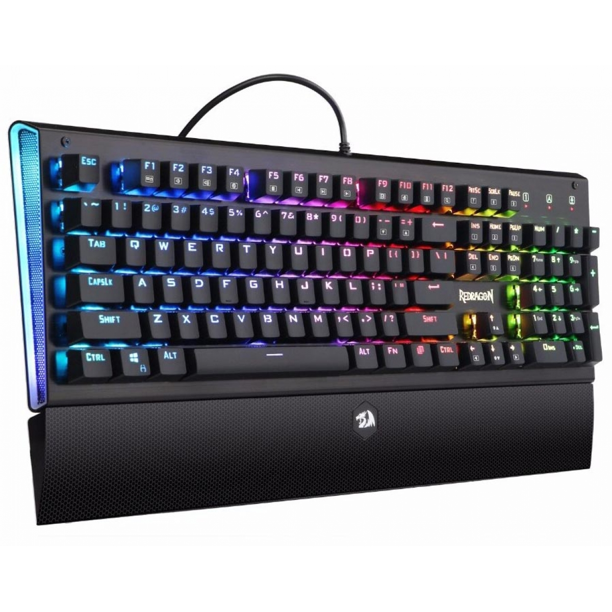 Teclado Mecânico Gamer Redragon DARK ARYAMAN K569 RGB, Switch Outemu Blue, ABNT2
