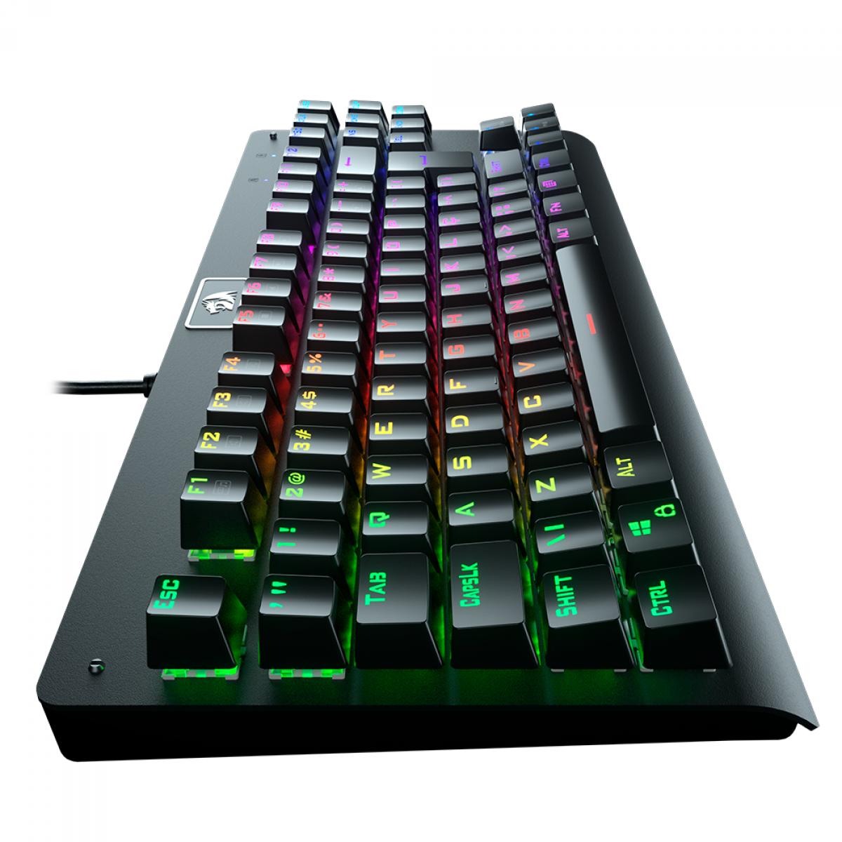 Teclado Mecânico Gamer Redragon Dark Avenger K568 RGB, Switch Outemu Blue, ABNT2, Black, K568RGB-1